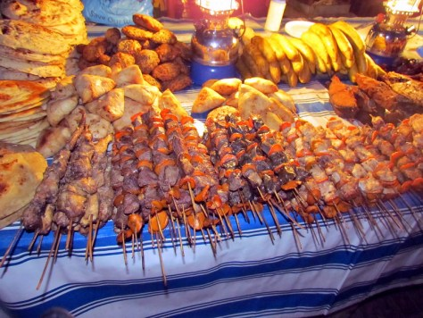 Food at the Forodhani Gardens in Zanzibar