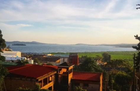 Sunset over Lake Victoria, Portbell Uganda