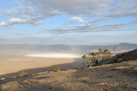 The Ngorongoro Crater (Tanzania) seen from its rim.