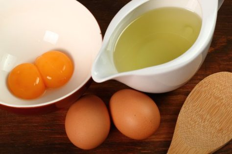 Eggs and olive oil for DIY Hair Mask for relaxed hair