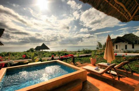 Plunge pool and view from Kasha Boutique Hotel, found through Booking.com