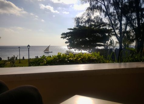 The view from 6 Degrees South Zanzibar