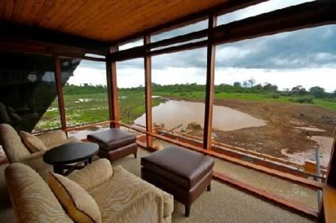 Viewing Room at The Ark Lodge Kenya