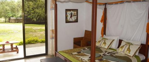 A double room at Tan-Swiss Lodge