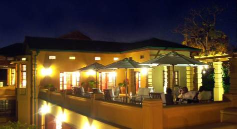 Outdoor Deck at the Emin Pasha Hotel in Kampala
