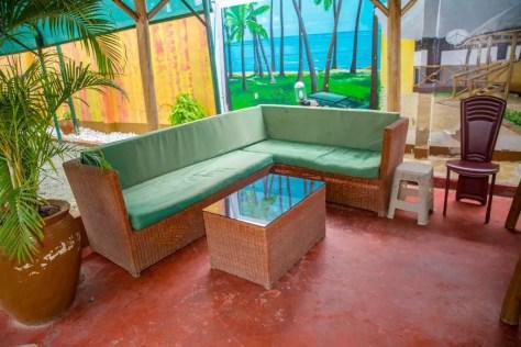 Hotels in Dar es Salaam: Outdoor bar at the Saadani Tourist Center
