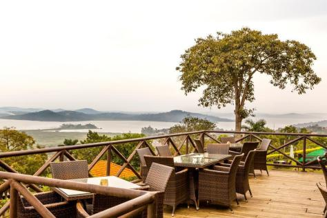 The view from Cassia Lodge, Kampala