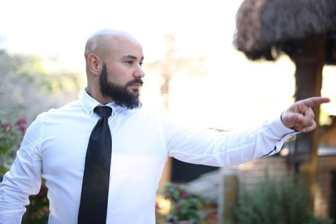 if your looking for great clothes for a bearded guy, a white shirt is a perfect fit