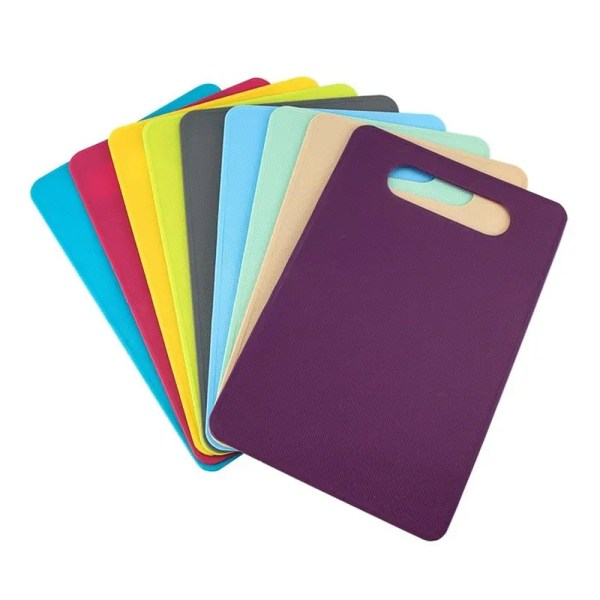Fanned out multi-colored cutting boards