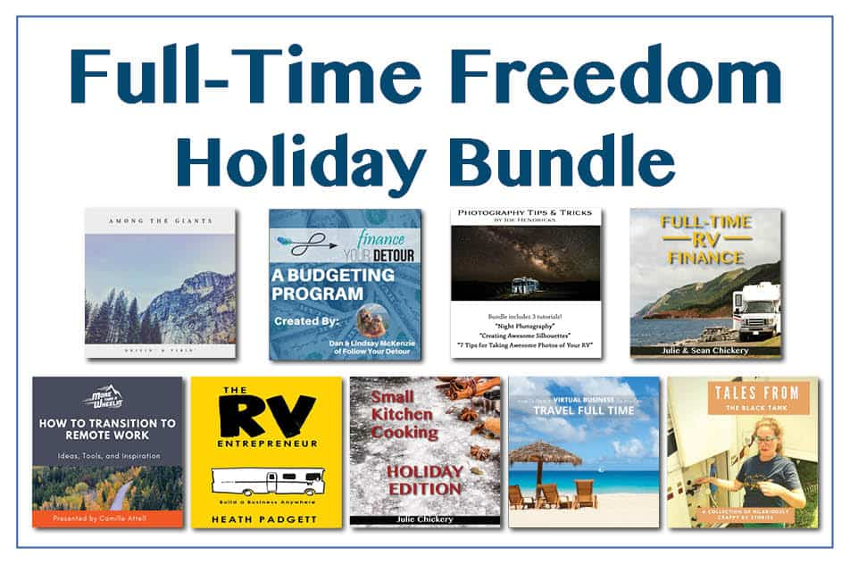 Full-Time Freedom Holiday Bundle of helpful products to help you realize your full-time travel goals.