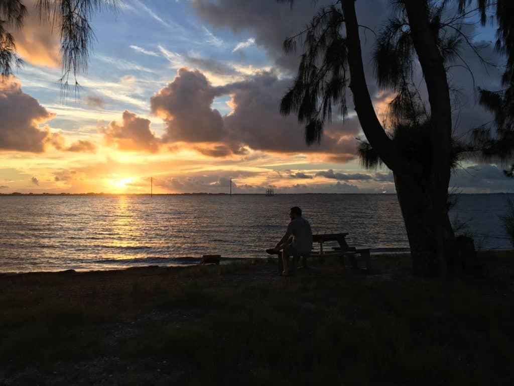 Sunset on the Banana River