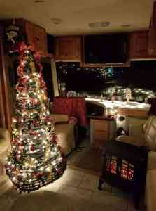 rv class a christmas tree - Christmas Camper Decoration