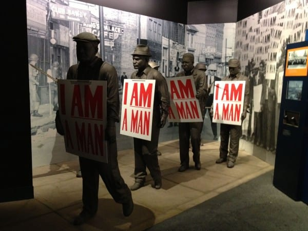 Exhibition of Picketers and Signs during the Sanitation Workers Strike in Memphis at the National Civil Rights Museum