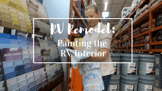 Rv Remodel Painting Your Rv Interior Is An Easy Way To
