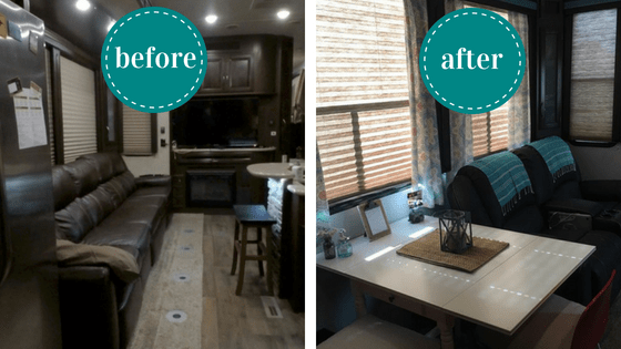 RV remodel costs and before and after pictures of the entire
