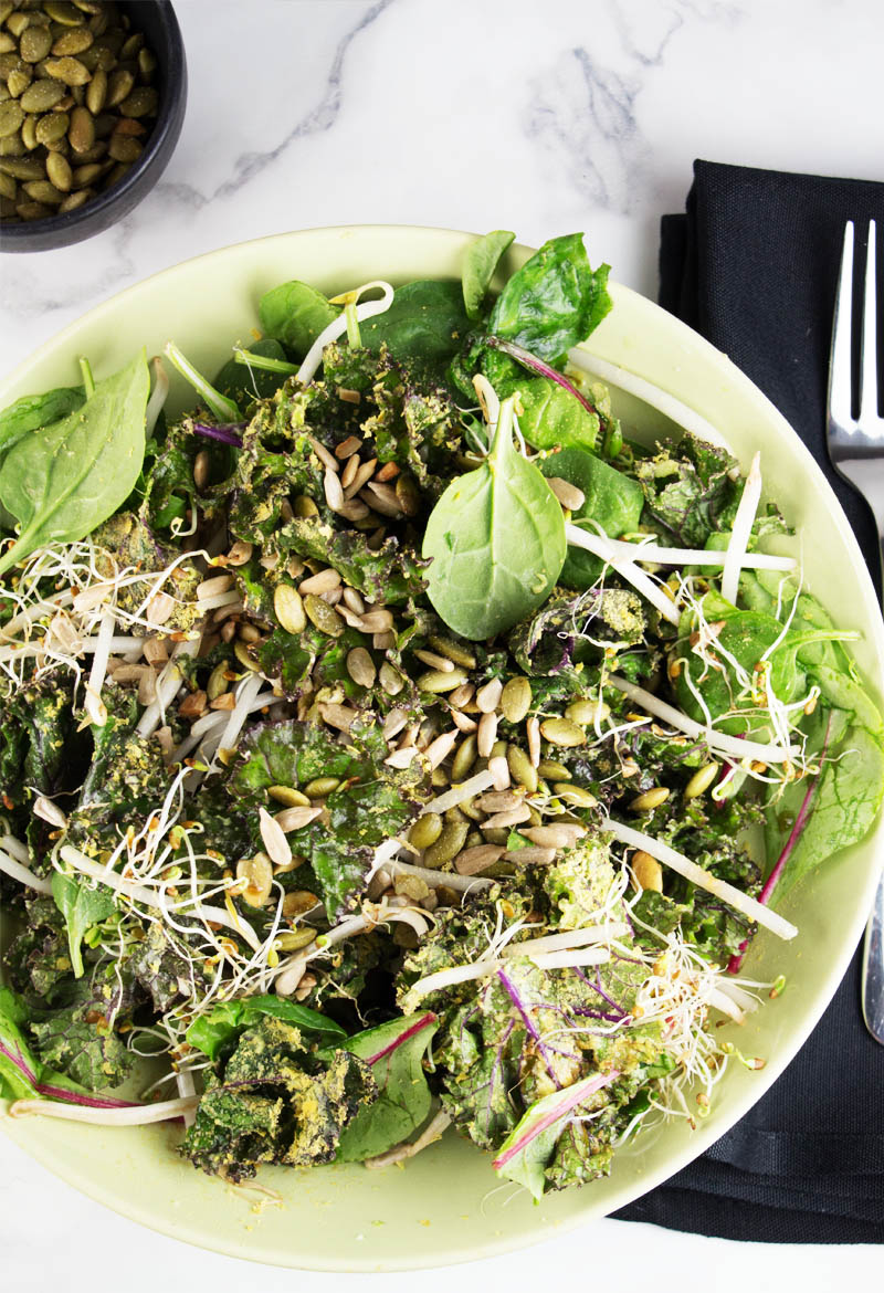 Super Greens salad {video}