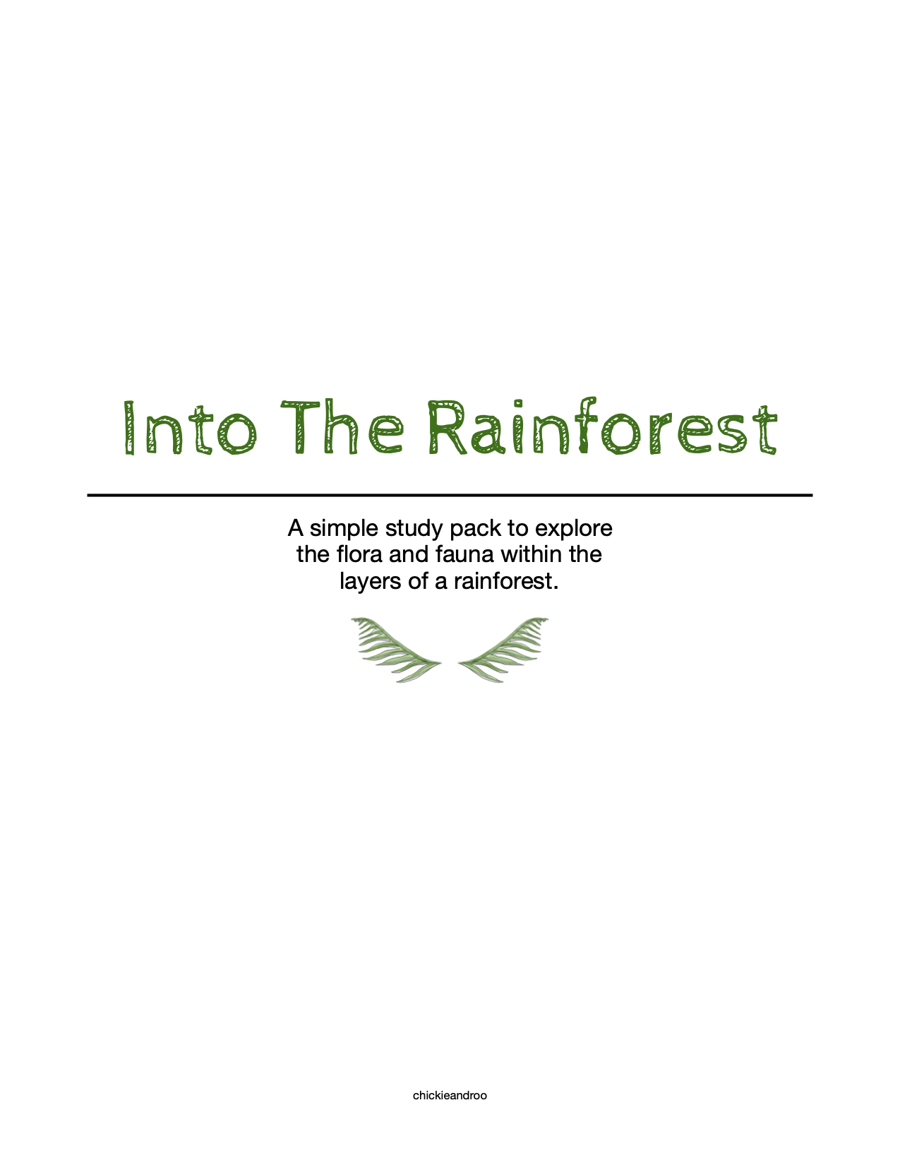 Into The Rainforest Mini Pack