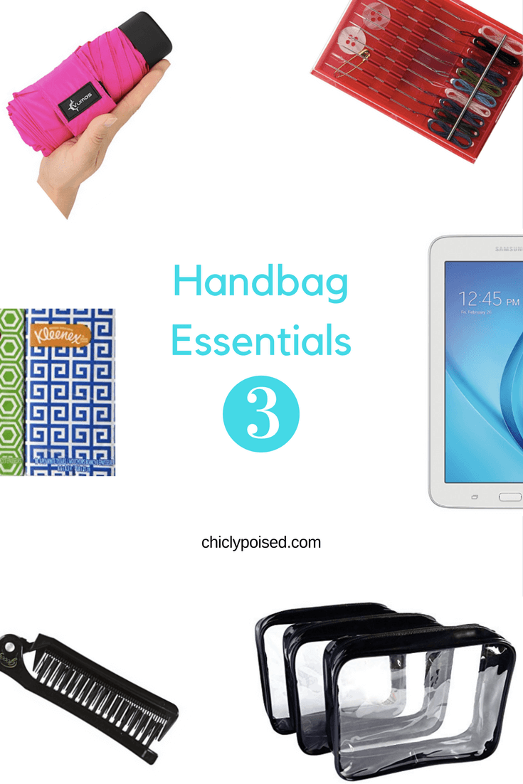 The Best Essentials For Your Handbag | Clear Makeup Bags For Traveling | Chiclypoised.com