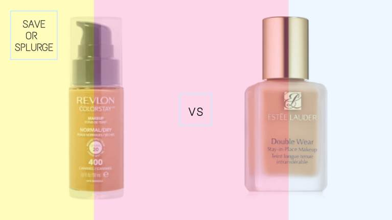 Revlon ColorStay Foundation vs Estee Lauder Double Wear Stay-In-Place Foundation | Best Drugstore Foundations Dupes Under 10 Dollars | Chiclypoised | Chiclypoised.com