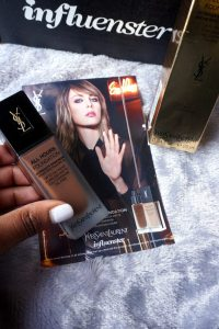 Get Free Items From These Companies | Influenster Voxbox Yves Saint Laurent YSL All Hours Foundation | Chiclypoised.com