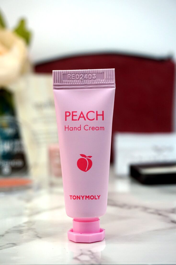 Ipsy Reviews October 2017 Ipsy Glam Bag | TONYMOLY Peach Hand Cream |Chiclypoised.com