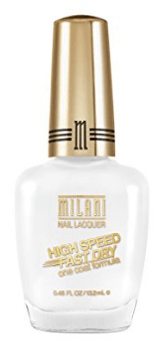 30 White Nail Polishes Under 10 Dollars | Milani High Speed Fast Dry Nail Lacquer White on the Spot | Chiclypoised.com