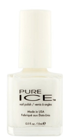 30 White Nail Polishes Under 10 Dollars | Pure Ice Nail Polish 981 Super Star | Chiclypoised.com