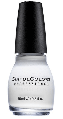 30 White Nail Polishes Under 10 Dollars | Sinful Colors Snow Me White | Chiclypoised.com