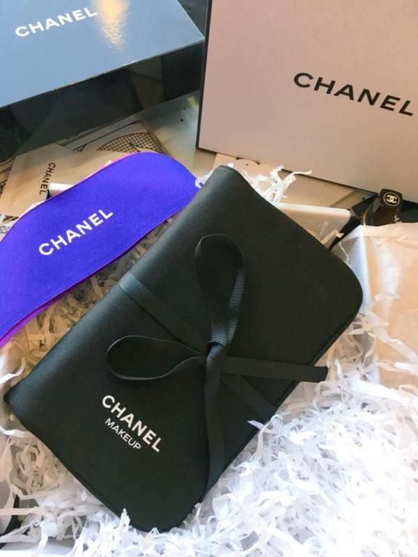 A Chanel Makeup pouch