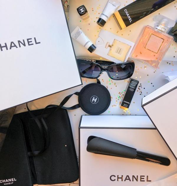 Another flatlay filled with Chanel products
