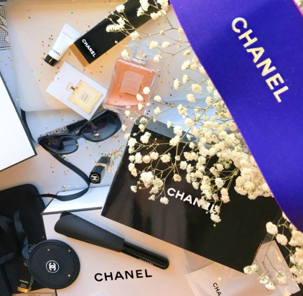 A flatly filled with Chanel accessories