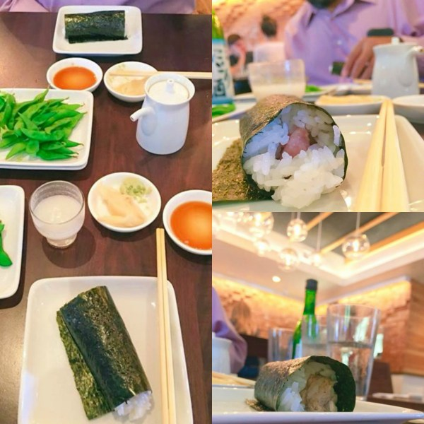 Two orders of hand rolls from Sugar Fish
