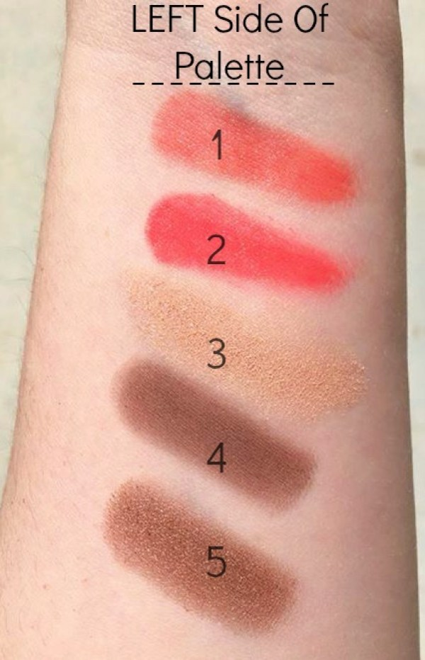 Swatches of the left side