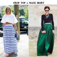 Crop Top And Maxi Delight