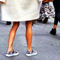 Celine Plaid Slip-ons
