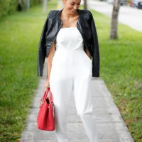 WHITE JUMPSUIT. NICHOLL VINCENT