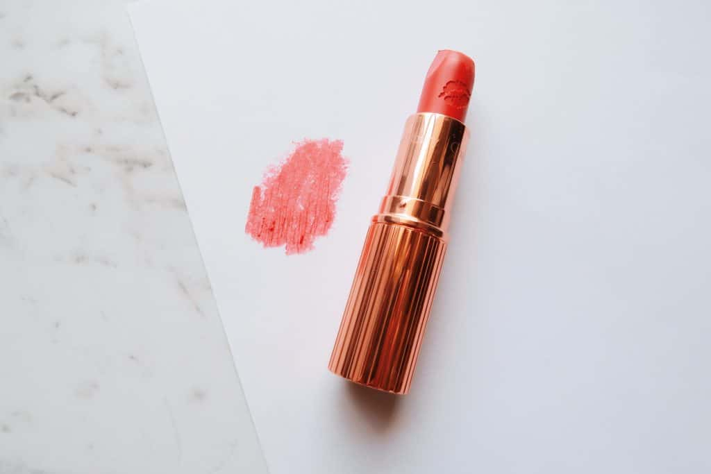 pink coral lipstick swatch