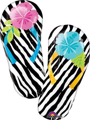 flip flop balloon summer fun