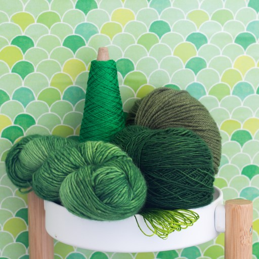 Green yarns.