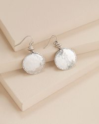 Tayla Drop Silver Earrings - Chicos