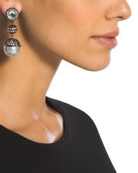 Faux-Pearl Clip-On Earrings - Chico's
