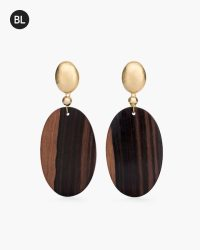 Wooden Clip-on Earrings - Chicos