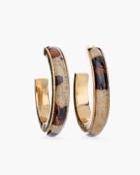 Leopard-Print Hoop Earrings - Chico's