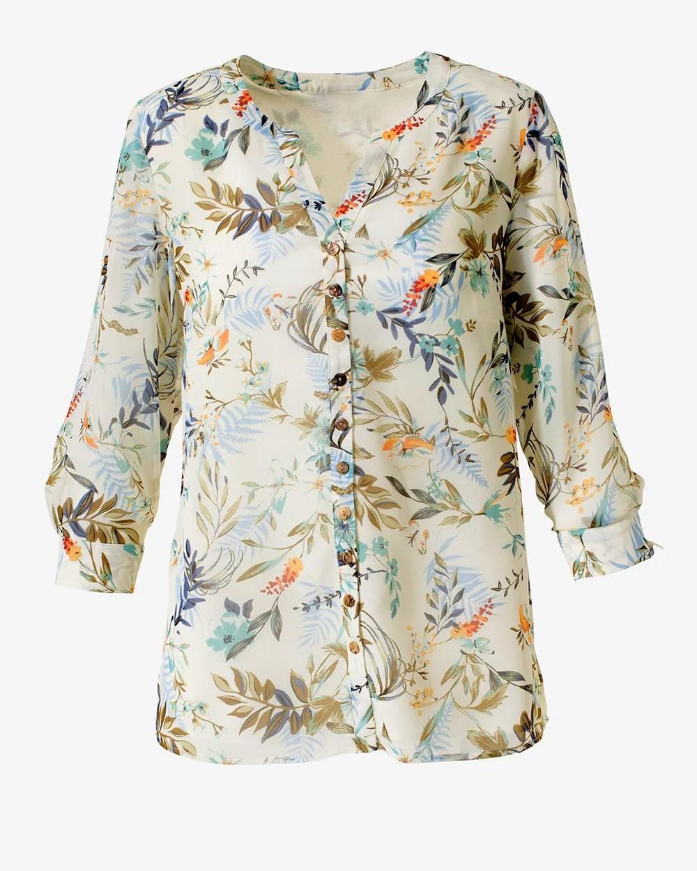 haute summer button down tunic