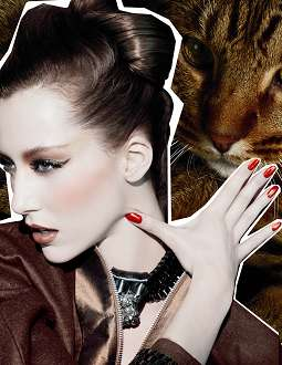 MAC Fabulous Felines 2010 fall promo MAC Fabulous Felines Makeup Collection for Fall 2010 + Promo Pictures