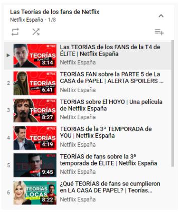 Imagen de Publicación en YouTube de Netflix