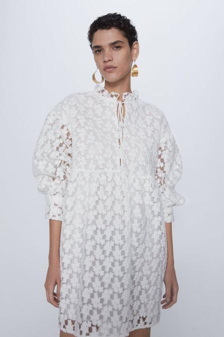 Vestido Blanco Zara nueva colección Primavera 2020