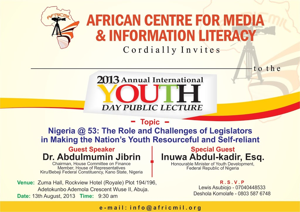 2013 International Youth Day lecture