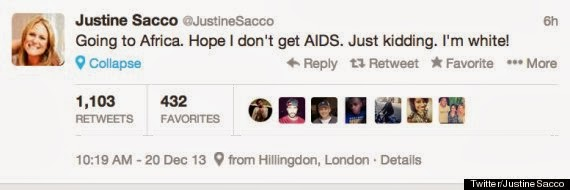 Crazy tweet about AIDS and Africa riles executives at major media company
