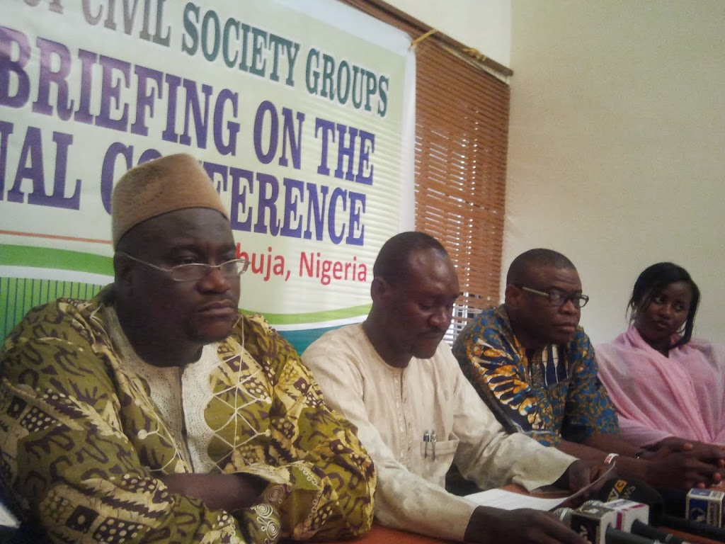 Pro-democracy civil society groups welcome National Conference as an opportunity to discuss Nigeria